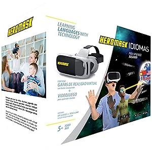 Virtual Reality Brille + Sprachen Lernen Kinderspiele [ Geschenke Für Kinder ]: Spanisch, Englisch… Lernspiele für 5-12 Jahre. Pädagogisches Spielzeug