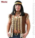 Indianer Weste Indianerweste Unisex Gr.XXL