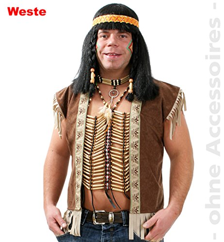 Accessoires Western Kostüm - Indianer Weste Indianerweste Unisex Gr. L