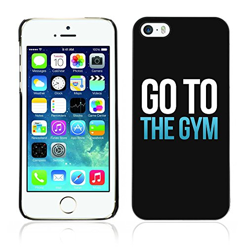 Graphic4You Go To The Gym Motivation Design Harte Hülle Case Tasche Schutzhülle für Apple iPhone 5 und 5S Design #1