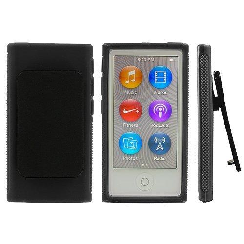 aniceseller (TM) Farbe TPU Gummi-Haut, Schutzhülle mit Gürtelclip für iPod nano 7. Gen. 7 7 G