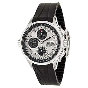 Hamilton Men's Khaki Aviation X-Patrol 42mm Black Rubber Band Steel Case Automatic Analog Watch H76566351