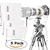 Movo (5 Pack) RC1 Clear Rain Cover for DSLR...