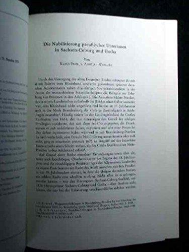 Die Nobilitierung preußischer Untertanen in Sachsen-Coburg und Gotha. Sonderdruck