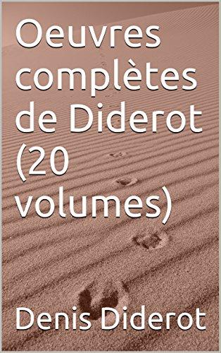Lire Oeuvres complètes de Diderot (20 volumes) epub, pdf