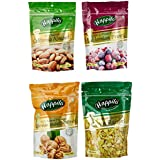 Happilo Premium Dry Fruits, 850g (California Almond, Raisins, Prunes, Inshell Walnuts)