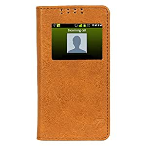 D.rD Flip Cover with screen Display Cut Outs designed for Microsoft Lumia 535
