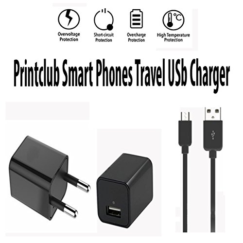 Nokia 515 Dual SIM Compatible Wall Charger,Travel Charger,Mobile Charger 1,2 Amp,Single Port USB India Plug Wall Charger Adapter With 1.2 Meter Micro USB Cable By Printclub,White/Black  available at amazon for Rs.249