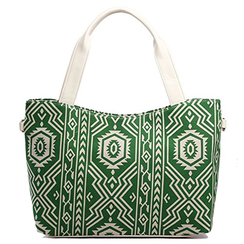 miss-lulu-handbag-shoulder-tote-bag-plus-beau-perry-canvas-bag-canvas-aztec-tote-green