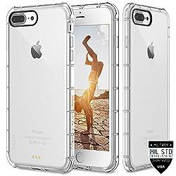 ZAAP®(USA) Defender iPhone 7plus Case, Shock-Absorbing protective {Award-winning Tech.} Transparent case /cover+ TPU bumper for iphone7plus ( Transparent/Clear)