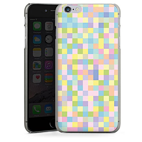 Apple iPhone X Silikon Hülle Case Schutzhülle Muster Bunt Pixel Hard Case anthrazit-klar