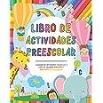 Libro de actividades preescolar: Cuaderno de actividades infantiles - Libro de colorear vacaciones para niños y niñas de pree