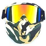 Mecotech Máscara Facial, máscara táctica Multicolor Cara máscara Paintball Máscara Protección Máscara para Nerf