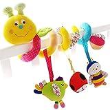SHILOH Baby Spirale Plüschtiere Spielzeug für Babyschale Kinderwagen Rasseln (caterpillar)