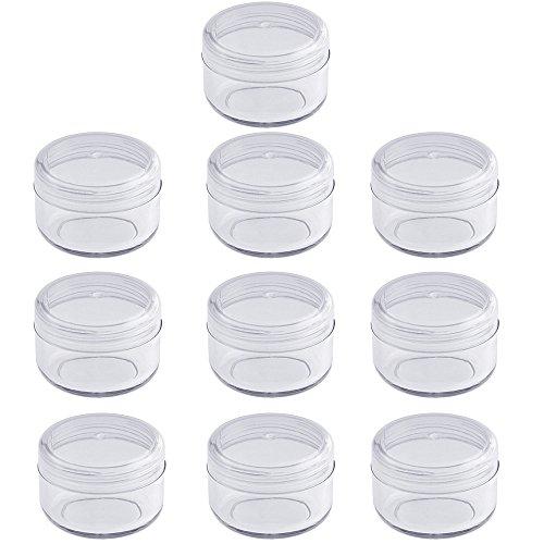 Leere klare Acryl Dose 6 ml, kleine Kosmetex Kosmetikdose, Plastikdose, Cremedose mit Schraubdeckel, 10 Stück (Acryl Kosmetikdosen)