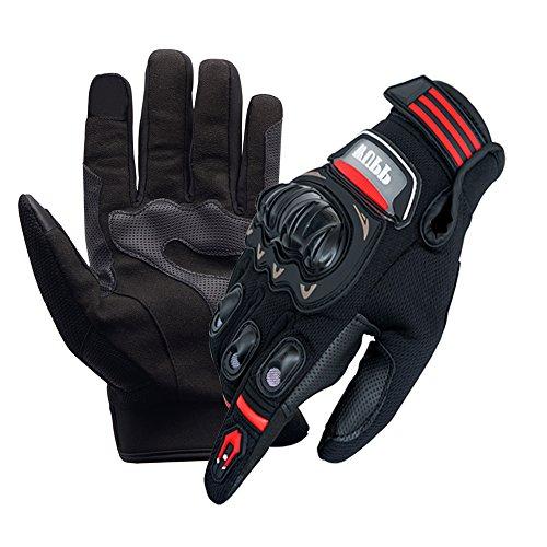 WANYI Gants Moto Eté Homologué Motorcycle Gloves, Gants Homme Femme, Gants de Moto Été Respirable Anti-Glissant Anti-Usure avec Bonne Flexibilité, Gant Moto Printemps Automne avec Écran Tactile (XL)