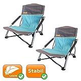 2er Set Strandstühle je 120 Kg Tragkraft