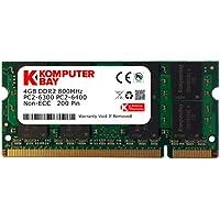 Komputerbay - Memoria SODIMM para portátiles (4 GB, DDR2, 800 MHz, PC2-6300, 200 pines) 4GB