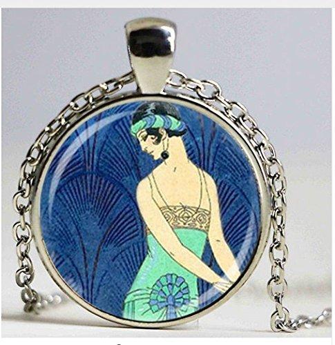 Art Deco Schmuck Flapper Girl Roaring Twenties Halskette, Art Jewelry (Twenties Roaring Damenmode)