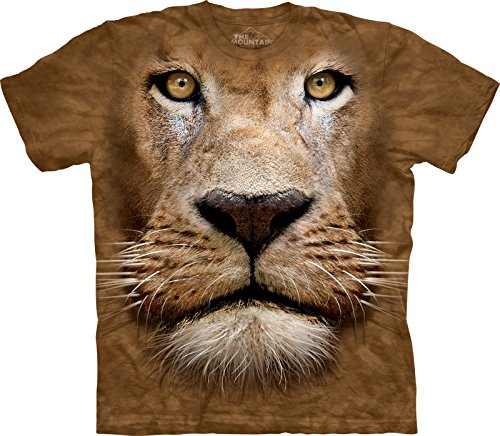 Lion Face Bambino Large Animals Unisex T Shirt The Mountain