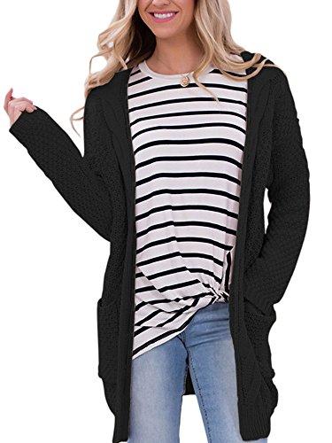 Damen Lang Strickjacke Casual Langarm Cardigan Pullover Jacke Mantel Oversize Winter Herbst Outwear Ufly (Pullover : Petites Cardigan V-neck)