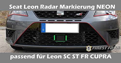 seat-radar-markierung-von-finest-folia-neon-grun-passend-fur-leon-iii-5f-fr-cupra-st-sc