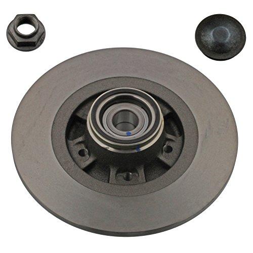 Preisvergleich Produktbild febi bilstein 38304 Bremsscheibe mit Radlager,  ABS-Impulsring,  Achsmutter und Schutzkappe (hinten,  1 Bremsscheibe),  Lochzahl 5