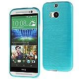 Schutzhülle für HTC One Silikon Tasche Cover Bamper Smartphone Schutz Smartphonetasche Handytasche Handyschutz Handyhülle TPU/Silikon (HTC One M8, Türkis)
