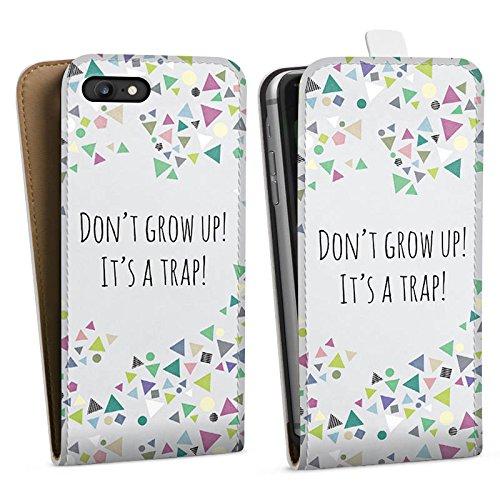 Apple iPhone X Silikon Hülle Case Schutzhülle Sprüche Muster Dreiecke Downflip Tasche weiß
