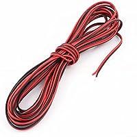 22AWG interior al aire libre con aislamiento de PVC Cable eléctrico Negro Rojo 6metros