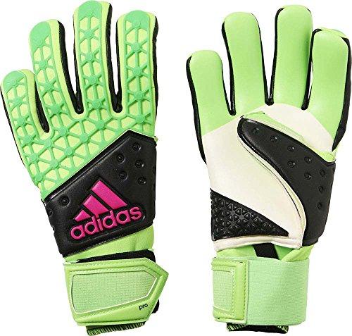 adidas Herren Torwarthandschuhe Ace Zones Pro, Solar Green/Core Black/Shock Pink S16, 11, AH7803