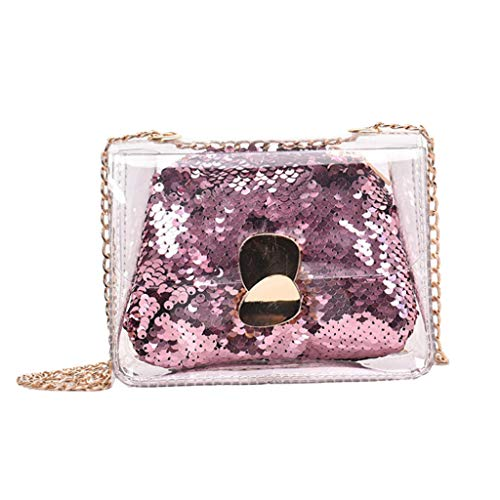 Mitlfuny handbemalte Ledertasche, Schultertasche, Geschenk, Handgefertigte Tasche,Damenmode-Gelee-transparente Beutel-Quadrat-Paket-Sequin-Kettenkurierbeutel