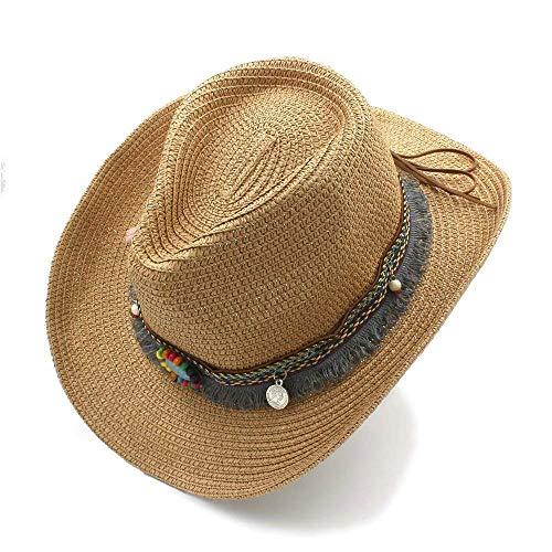 Sehr weich und angenehm zu tragen Hollow Western Cowboy-Hut der Handarbeit-Sommerfrauen-Männer für Gentleman-Westernwort-Cowgirl-Jazzkappe-Sommer-Stroh-Strand-Sonnenhut