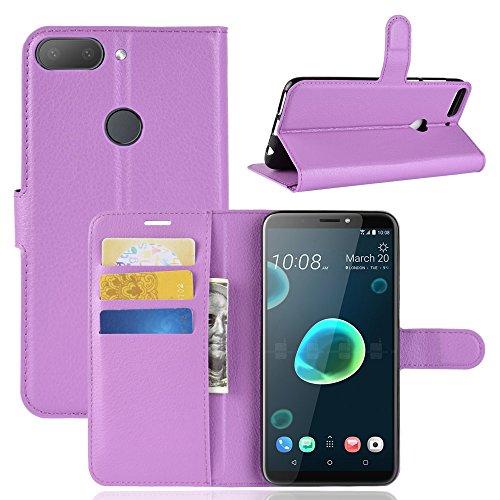 95Street Handyhülle für HTC Desire 12 Plus Schutzhülle Book Case für HTC Desire 12 Plus Hülle Klapphülle Tasche im Retro Wallet Design mit Praktischer Aufstellfunktion
