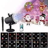 Projektor Weihnachten, Morease 12 Muster Abnehmbar Für LED-Projektionslichter Weihnachtsbeleuchtung Außen/Innen,Wasserdicht (IP65),Für Gartenlicht für Festen, Weihnachten, Karneval