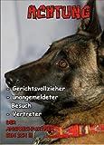 INDIGOS UG - Türschild FunSchild - SE283 DIN A5 laminiert ACHTUNG Hund MALINOIS - für Käfig, Zwinger, Haustier, Tür, Tier, Aquarium