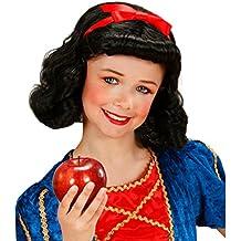 La peluca de la peluca de Blancanieves para niños negro diseño de la peluca para niña