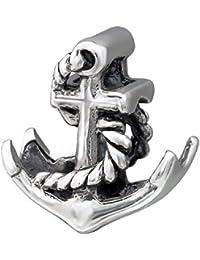 So Chic Joyas - Abalorio Charm ancla barco Mar - Compatible con Pandora, Trollbeads, Chamilia, Biagi - Plata 925