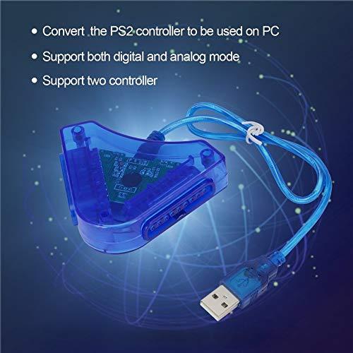 Preisvergleich Produktbild Pudincoco Joypad Game Controller zu PC USB Konverter Adapter für PS2 Playstation 2