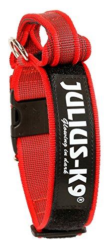Julius-K9 - Collar para perro, Rojo (Red/Gray), 50 mm*49-70 cm