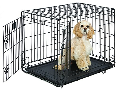 midwest-life-stages-double-door-folding-metal-dog-crate-30-inches-by-21-inches-by-24-inches