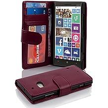 Cadorabo - Funda Nokia Lumia 930 / 929 Book Style de Cuero Sintético en Diseño Libro - Etui Case Cover Carcasa Caja Protección con Tarjetero en BURDEOS-VIOLETA