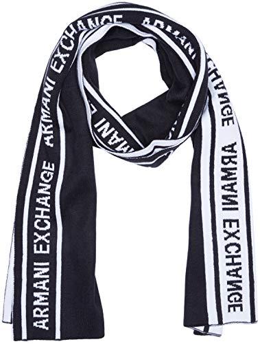 Armani Exchange Herren Cold Weather Scarf Mütze, Schal & Handschuh-Set, Blau (Navy 1510), One Size (Herstellergröße: TU) -