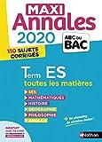 Maxi-annales ABC du Bac 2020 - Terminale ES (24)...