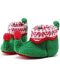 Itaar bebé botas para bebé Navidad elfo cuna zapatos invierno Nieve Patucos suave ...