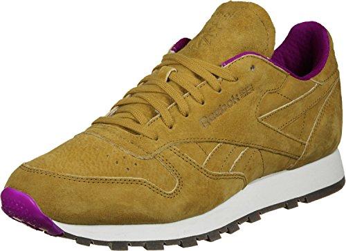 Reebok Herren Schuhe / Sneaker Classic Leather MSP Gelb Lila