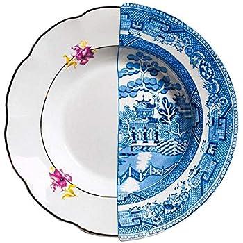 """SELETTI Piatto Fondo in Porcellana Ø Cm.25,4 H.4,2""""Hybrid-Fillide"""