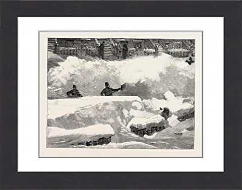 Framed Print Of Blizzard In New York, Aspect Of An Up Town Street The Day After The Storm, Us