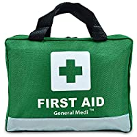 210 Piece First Aid Kit- Emergency kit - Reflective Design - Includes Eyewash, Ice(Cold) Pack,Moleskin Pad,CPR Face Mask and Emergency Blanket for Travel, Home, Office, Car, Workplace & Outdoor 25