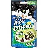 Felix Crispies Katzensnack mit Fleisch- und Gemüsegeschmack, 8er Pack (8 x 45 g)